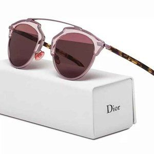 🦄 Dior SO REAL pink mirrored sunglasses 💯 AUTH